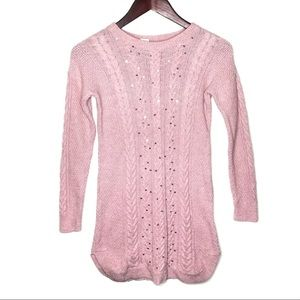 Gap Kids Pink Sweater Dress with Sequins